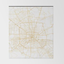 HOUSTON TEXAS CITY STREET MAP ART Throw Blanket