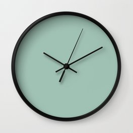 Aqua Silt Green Blue | Solid Colour Wall Clock