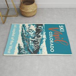 Ski Vail Colorado, vintage poster Rug