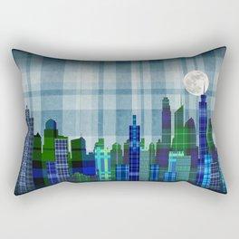 Plaid City Twilight Rectangular Pillow