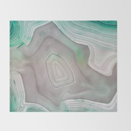 MINTY MINERAL Throw Blanket
