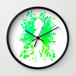 Anime Hero Paint Splatter Inspired Shirt Wall Clock