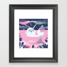 Norman the Near-Sighted Narwhal Framed Art Print