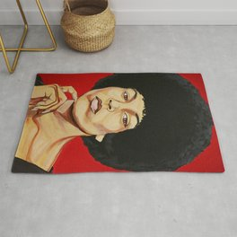 "Angela Davis ""Revolutionary"" Rug"