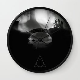 """But Death was cunning"" Deathly Hallows Wall Clock"