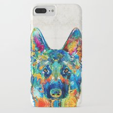 Colorful German Shepherd Dog Art By Sharon Cummings Slim Case iPhone 7 Plus