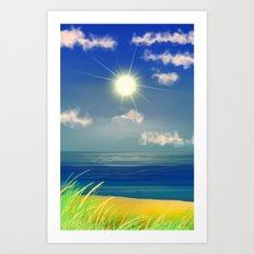 Strand '& Meer&Himmel. Art Print