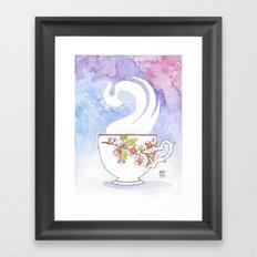 Apple Blossom Cup Framed Art Print