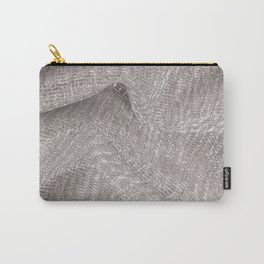 Sparkling metallic textile background Carry-All Pouch