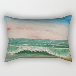 Caribbean Ocean Wave / Oil Painting Rectangular Pillow