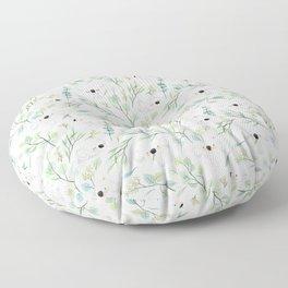 Koala and Eucalyptus Pattern Floor Pillow