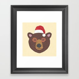 Santa Bear Framed Art Print