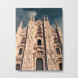 Milan Cathedral, Duomo di Milano, Gothic church, Lombardy, Milan photography Metal Print
