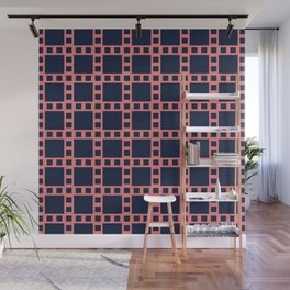 Blue and Pink Square Seamless Pattern - Filmstrip Inspired 008#002 Wall Mural
