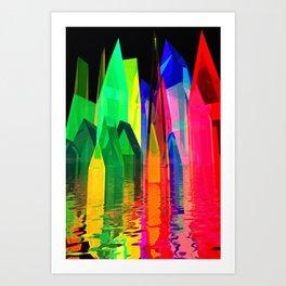 colorful village -1- Art Print