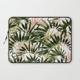 UNFURLING Tropical Palm Print Laptop Sleeve