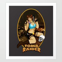 tomb raider Art Prints featuring Tomb Raider by Orphen5