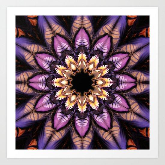 Artistic fantasy flower Art Print