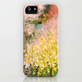Walking Through Blossom iPhone Case