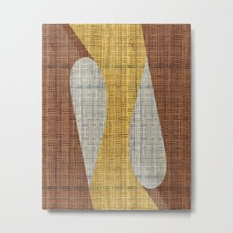 Wicker abstract Metal Print