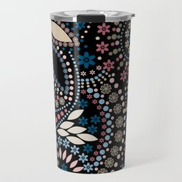 Abstract pattern with beads on black Travel Mug
