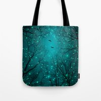 kubrick Tote Bags featuring One by One, the Infinite Stars Blossomed by soaring anchor designs