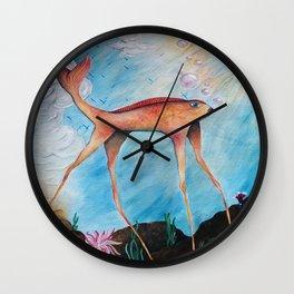 Long Legged Koi Wall Clock