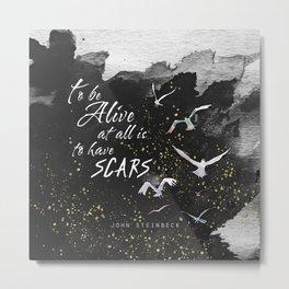 Scars Metal Print