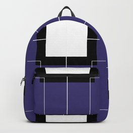 White Hairline Squares in Deep Purple Backpack