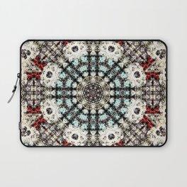 Vintage Distressed Mandala Design with hearts Laptop Sleeve