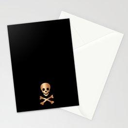 SKULL - BLACK & ROSE GOLD Stationery Cards
