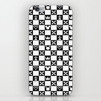 kingdom hearts iPhone & iPod Skins featuring Kingdom Hearts pattern by Airesama