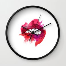 LIP BITE Wall Clock