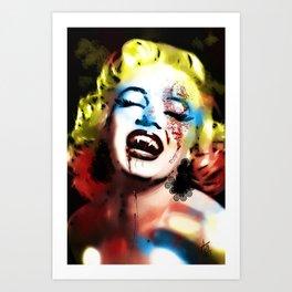 Vampire Monroe  Art Print