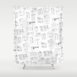 COVER, Contain, Compost - 3 of 3 Shower Curtain