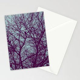 1000 Words on Twilight and Aubergine Stationery Cards