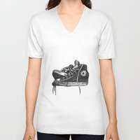 sneakers V-neck T-shirts featuring sneakers by Cardula