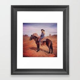 MRS JOHN WAYNE Framed Art Print