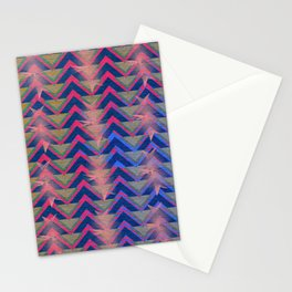 Chevron and  Geometric with pink Stationery Cards