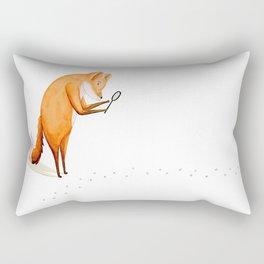 Foxy Detective Rectangular Pillow
