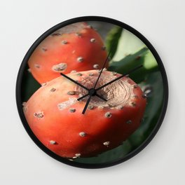 Prickly Pear Cactus Fruit - Indian Fig  Wall Clock