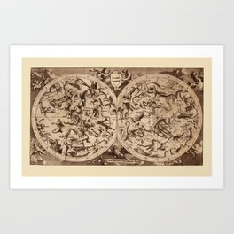 Constellation Map 1734 Art Print