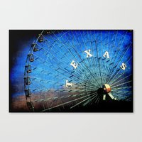 texas Canvas Prints featuring Texas by Slight Clutter