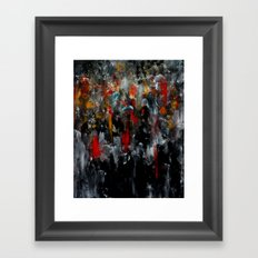 Red Coats In The Crowd Cityscape Part 2 Framed Art Print