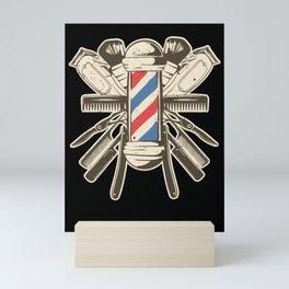 Barber Accessories | Beard Hairdresser Mini Art Print