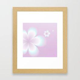 Petites Fleurs Roses Fractal Framed Art Print