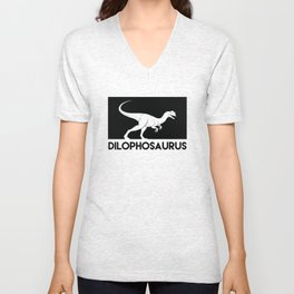 Dilophosaurus Dinosaur Unisex V-Neck