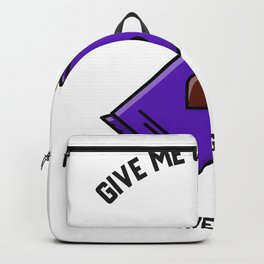 Give me chocolate and no one gets hurt funny gift Backpack
