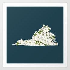 Virginia in Flowers Art Print