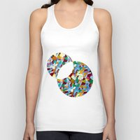mozart Tank Tops featuring Mozart abstraction by Laura Roode